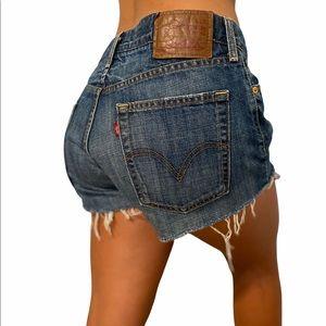 "514 Levi's midrise denim cutoff shorts size 30"""